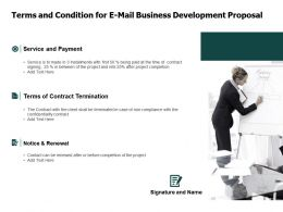Terms And Condition For E Mail Business Development Proposal Ppt Powerpoint Slides
