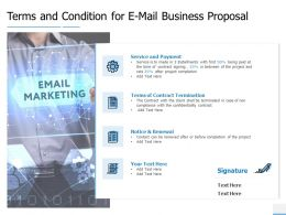 Terms And Condition For E Mail Business Proposal Payment Ppt Presentation Slides