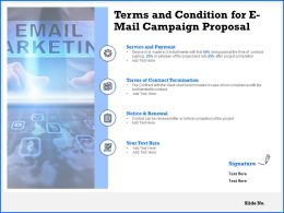 Terms And Condition For E Mail Campaign Proposal Ppt Powerpoint Presentation Icon