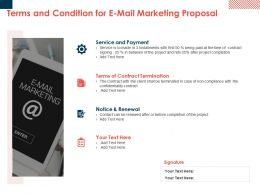 Terms And Condition For E Mail Marketing Proposal Ppt Powerpoint Picture