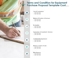 Terms And Condition For Equipment Purchase Proposal Template Cont Ppt Slides