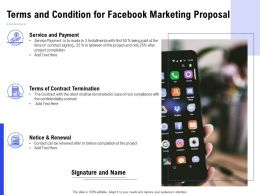 Terms And Condition For Facebook Marketing Proposal Ppt Powerpoint Presentation Ideas Show