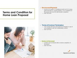 Terms And Condition For Home Loan Proposal Ppt Powerpoint Presentation Gallery