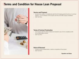Terms And Condition For House Loan Proposal Ppt Powerpoint Portfolio