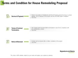 Terms And Condition For House Remodeling Proposal Ppt Powerpoint Presentation Layouts