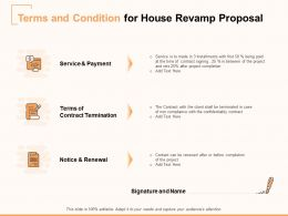 Terms And Condition For House Revamp Proposal Ppt Powerpoint Presentation Layouts Layout