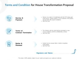 Terms And Condition For House Transformation Proposal Ppt Gallery Examples