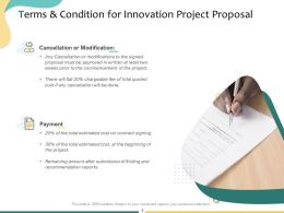 Terms And Condition For Innovation Project Proposal Ppt Powerpoint Presentation Model