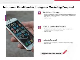 Terms And Condition For Instagram Marketing Proposal Ppt Powerpoint Presentation Examples