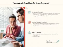 Terms And Condition For Loan Proposal Ppt Powerpoint Presentation Infographics Elements