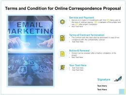 Terms And Condition For Online Correspondence Proposal Ppt Icon