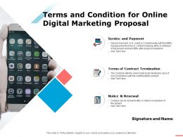 Terms And Condition For Online Digital Marketing Proposal Ppt Powerpoint Presentation Templates
