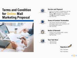 Terms And Condition For Online Mail Marketing Proposal Payment Ppt Slides