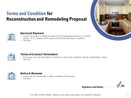 Terms And Condition For Reconstruction And Remodeling Proposal Ppt Powerpoint Presentation Summary