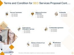 Terms And Condition For SEO Services Proposal Cont Ppt Powerpoint Presentation File