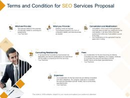 Terms And Condition For SEO Services Proposal Ppt Powerpoint Presentation Show