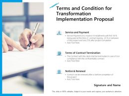 Terms And Condition For Transformation Implementation Proposal Ppt File
