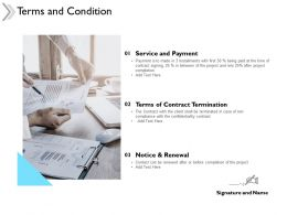 Terms And Condition Notice And Renewal Ppt Powerpoint Presentation Model
