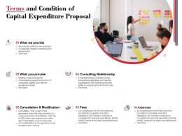 Terms And Condition Of Capital Expenditure Proposal Ppt Powerpoint Presentation Icon Template