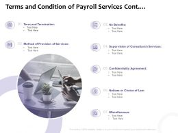 Terms And Condition Of Payroll Services Cont Ppt Powerpoint Slide