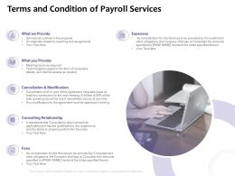 Terms And Condition Of Payroll Services Ppt Powerpoint Presentation File