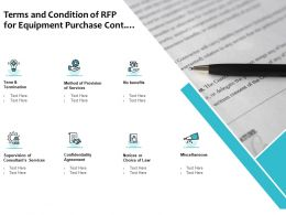 Terms And Condition Of RFP For Equipment Purchase Cont Ppt Powerpoint Presentation Infographic