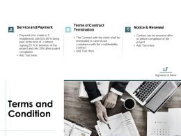 Terms And Condition Service Ppt Powerpoint Presentation Rules