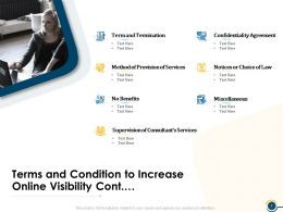 Terms And Condition To Increase Online Visibility Cont Ppt Presentation Visual Aids Show