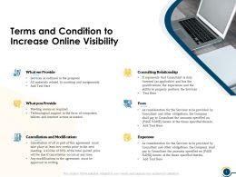 Terms And Condition To Increase Online Visibility Ppt Powerpoint Presentation Visual Aids Layouts
