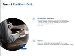 Terms And Conditions Cont Cancellation Or Modification Ppt Powerpoint Presentation Summary