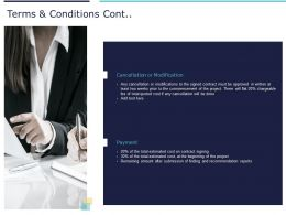 Terms And Conditions Cont Modification Ppt Powerpoint Presentation Slides Maker