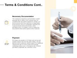 Terms And Conditions Cont Ppt Powerpoint Presentation Structure