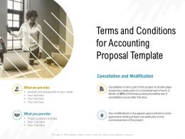 Terms And Conditions For Accounting Proposal Template Ppt Powerpoint Presentation Slides