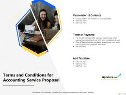 Terms And Conditions For Accounting Service Proposal Payment Ppt Powerpoint File Tips