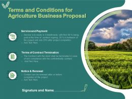 Terms And Conditions For Agriculture Business Proposal Ppt Powerpoint Presentation Ideas