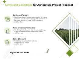 Terms And Conditions For Agriculture Project Proposal Ppt Powerpoint Inspiration