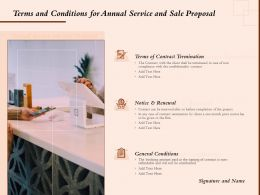 Terms And Conditions For Annual Service And Sale Proposal Ppt Powerpoint Ideas