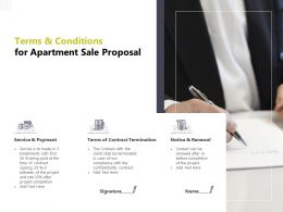 Terms And Conditions For Apartment Sale Proposal Termination Presentation Slides