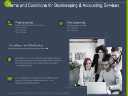 Terms And Conditions For Bookkeeping And Accounting Services Ppt Powerpoint Slides