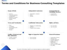Terms And Conditions For Business Consulting Templates Ppt Powerpoint Styles Inspiration