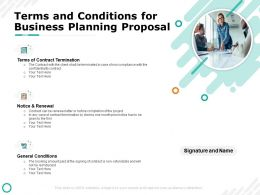 Terms And Conditions For Business Planning Proposal Renewal Ppt Powerpoint Presentation Ideas