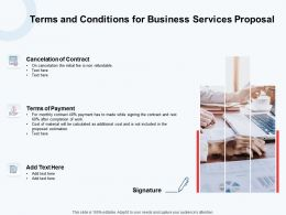 Terms And Conditions For Business Services Proposal Ppt Powerpoint Template