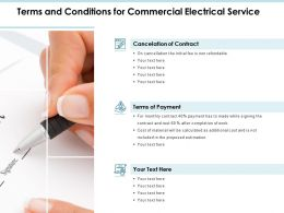 Terms And Conditions For Commercial Electrical Service Ppt Slides