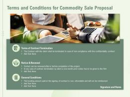 Terms And Conditions For Commodity Sale Proposal Ppt Powerpoint Presentation File