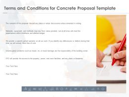 Terms And Conditions For Concrete Proposal Template Ppt Powerpoint Presentation Infographic Template