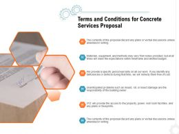 Terms And Conditions For Concrete Services Proposal Ppt Powerpoint Presentation Icon Designs