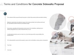 Terms And Conditions For Concrete Sidewalks Proposal Ppt Powerpoint Presentation Background