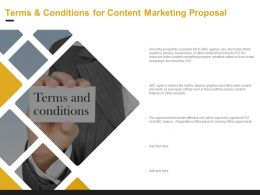 Terms And Conditions For Content Marketing Proposal Ppt Powerpoint Presentation Ideas