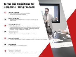 Terms And Conditions For Corporate Hiring Proposal Ppt Powerpoint Presentation Display