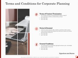 Terms And Conditions For Corporate Planning Ppt Powerpoint Presentation Slides